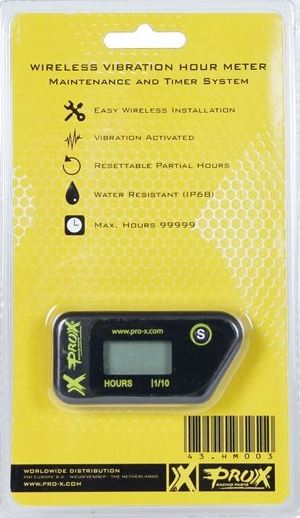 PRO X WIRELESS VIBRATION HOUR METER - EASY INSTALL