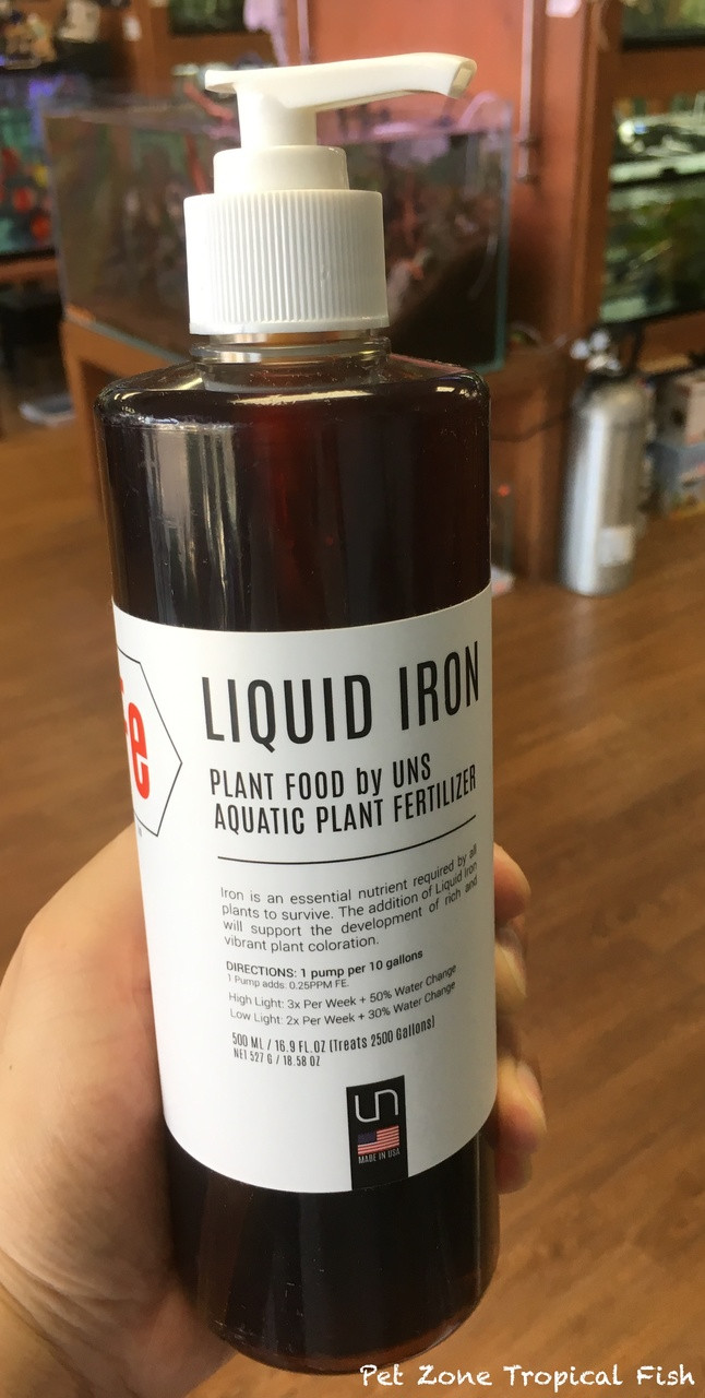 Plant Care: UNS Liquid IRON Plant Food Aquatic Plant Fertilizer