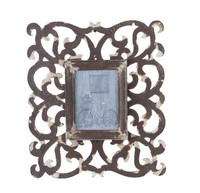 Wooden Scroll Photo Frame