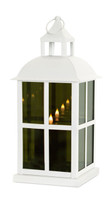 Mirrored Glass Lantern with Moving Flame | Square Detail