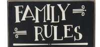 Family Rules   30 Inch Plaque