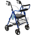 Transport Rollator with Padded Seat