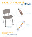 Drive Shower Tub Chair Grab Bar Safety Bundle #1