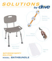 Drive Shower Tub Chair Bathroom Safety Bundle #2