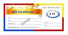 EasyMedicalStore.com $75 Gift Certificate