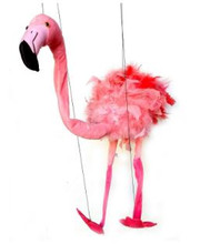 This colorful Large Flamingo Marionette Puppet is fun for all ages!