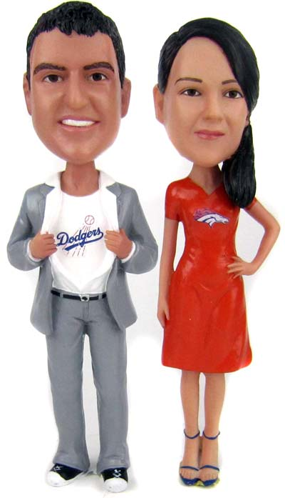 Baseball Wedding Cake Toppers