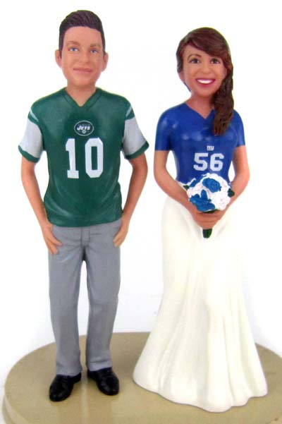 Football Wedding Cake Toppers - Custom, Personalized