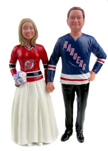 Hockey Wedding Cake Toppers - Custom and Personalized