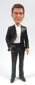 David - Modern Suit Groom Cake Topper Figurine