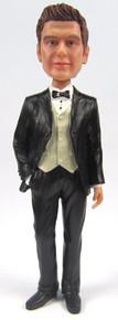 Doug - Tuxedo Groom Cake Topper Figurine