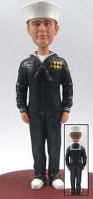Lance - Navy Groom Cake Topper Figurine