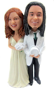 Old fashioned couple wedding cake topper