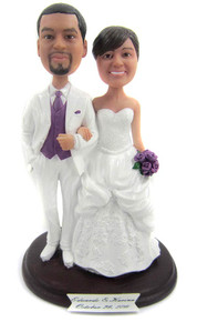 Princess ballgown wedding cake topper