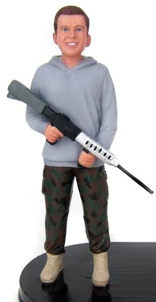 Military Groom Cake Topper Figurine