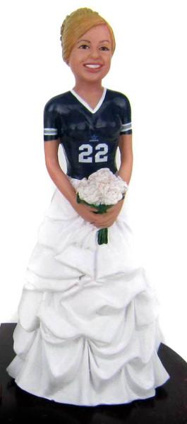 Vanessa Sports Bride Cake Topper Figurine