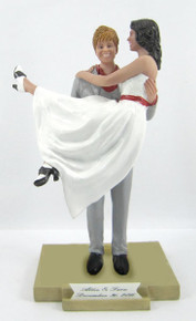 Carrying the Bride Cake Topper