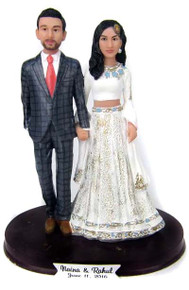 Custom Lovely Indian Bride Wedding Cake Topper