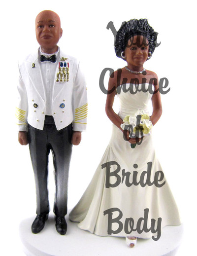 Custom Army Officer w/Interchangeable Bride Cake Topper