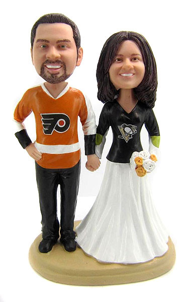 hockey player wedding cake topper hockey wedding cake toppers bobblegram 15259