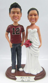 Custom Football Couple Wedding Cake Topper.  184.99. Compare. Choose  Options · NFL Football Jersey Groom w  Interchangeable Bride Style 88debe5ed