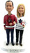 Casual Hockey Fans Wedding Cake Topper