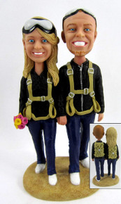SkyDiver SkyDiving Wedding Cake Topper