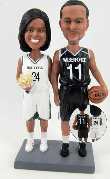 Basketball Bride and Groom Cake Topper