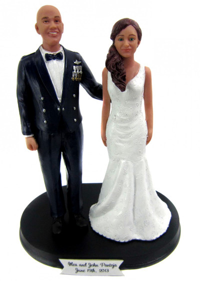 Air Force Office Groom Wedding Cake Toppers