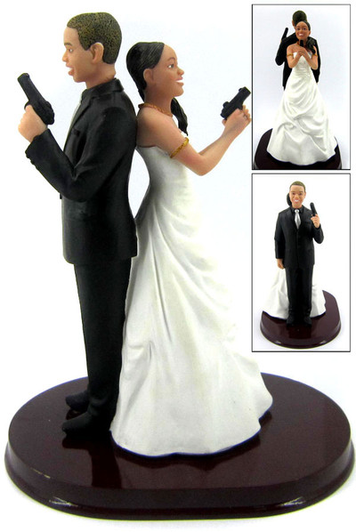 Mr. & Mrs. Smith Wedding Cake Toppers Custom + Personalized