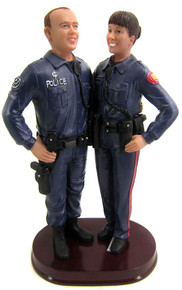 Police officer uniform cake topper