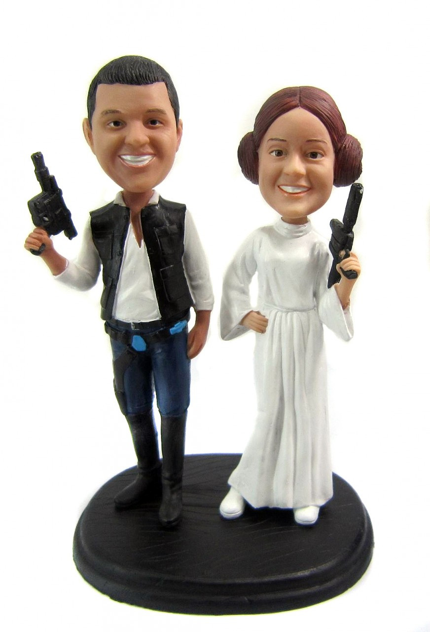 Custom Star Wars Wedding Cake Toppers