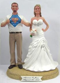 Movie Hero Wedding Cake Toppers