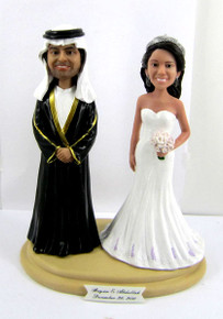 Arabic Wedding Cake Topper