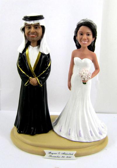 Arabic Wedding Cake Topper