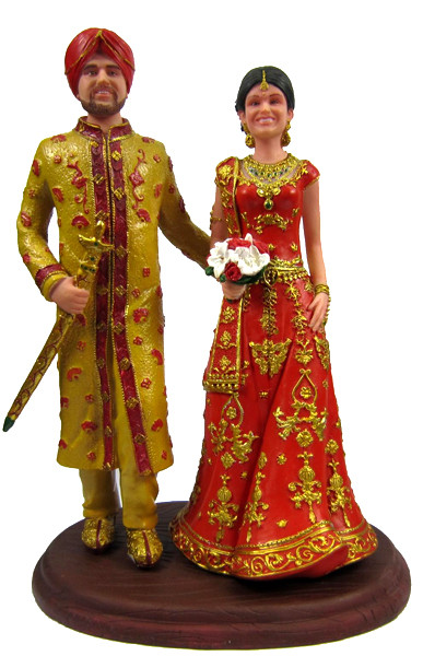 indian wedding cake toppers bride and groom uk east indian custom wedding cake topper 16425