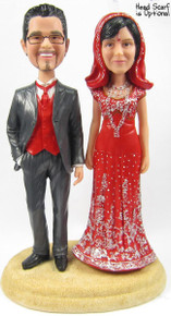 Sari Bride w/Interchangeable Groom Cake Topper