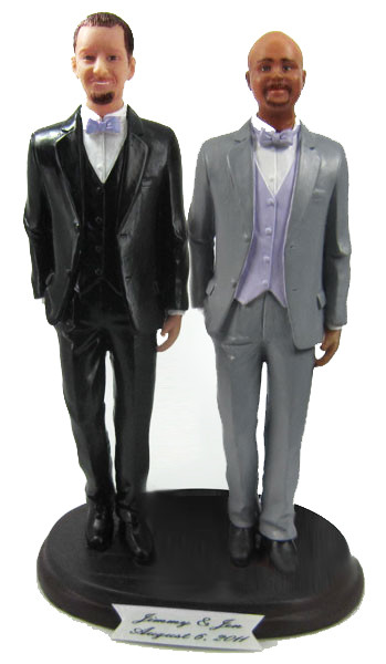 LGBTQ+ Same Sex Gay and Lesbian Queer Wedding Cake Toppers
