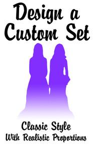 Design a custom set of of same sex brides wedding cake topper