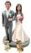 Daisy Couple Wedding Cake Topper - Sample 2