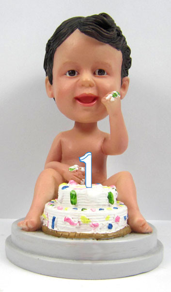1st Birthday Baby Cake Topper Sculpted to Look Like Your Child!