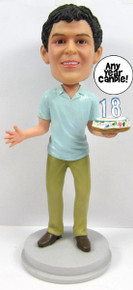 Young Man's Birthday Cake Topper Sculpted to Look Like Him!