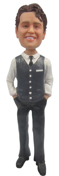 Real Peeps Cake Topper Male #11 - Vest and Tie