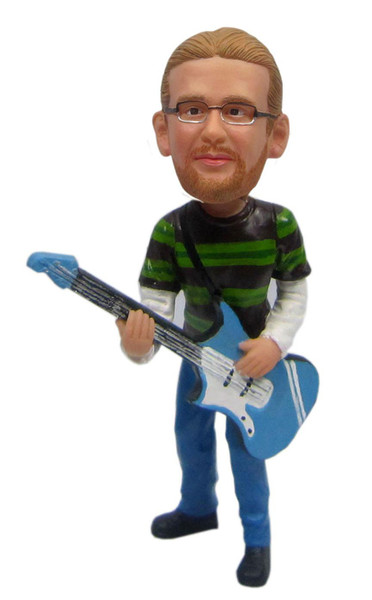 Real Peeps Cake Topper Male #26 - Electric Guitarist
