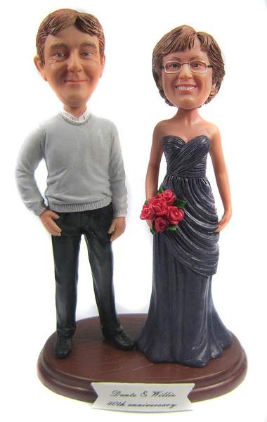 Custom wedding anniversary wedding cake topper