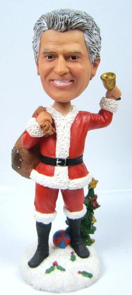 Christmas Santa Bobble Head with Bag of Gifts