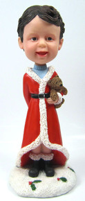 Child Bobble Head Figure with Teddy Bear