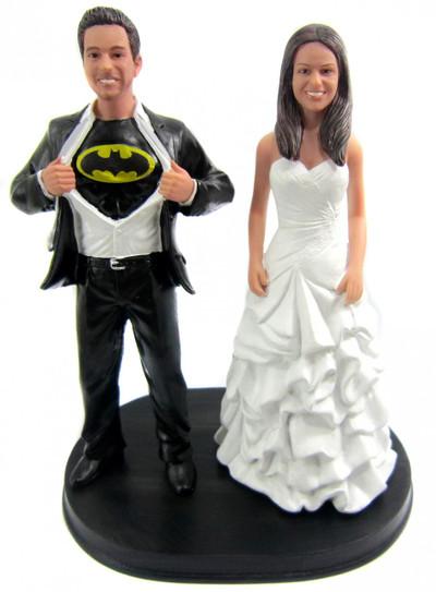 Batman Wedding Cake.Custom Batman Wedding Cake Topper