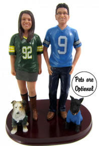 Sports jersey wedding cake topper
