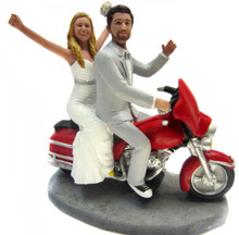 Harley Couple Wedding Cake Topper